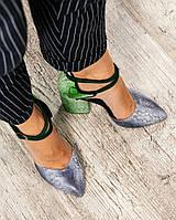 Туфли женские с перекрестными ремешками цветные, фото 1