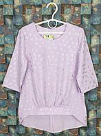 Блузка для девочки, р. 134-158, фиалковый