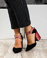 Туфли открытые с перекрестными ремешками , фото 1