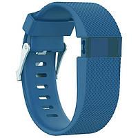 Силиконовый ремешок для фитнес браслета Fitbit Charge HR - Blue L