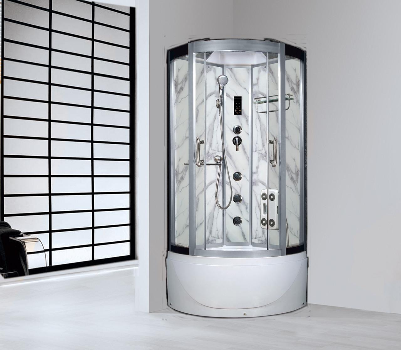 Гидромассажный бокс BADICO SAN 088 CN 100х100х215 с средним поддоном