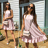 Женское платье-трапеция с рюшей (в расцветках), фото 3