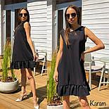 Женское платье-трапеция с рюшей (в расцветках), фото 6