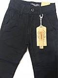 Катоновые штаны (чёрные) для мальчиков 116-140 см, фото 2