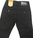 Катоновые штаны (чёрные) для мальчиков 116-140 см, фото 3