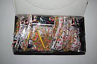 Резиночки для плетения Rainbow Loom 200шт. (разноцветные сердечки, ромашки, звездочки)