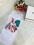 Женский белое платье-майка с рисунком (в расцветках), фото 2
