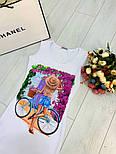 Женский белое платье-майка с рисунком (в расцветках), фото 4