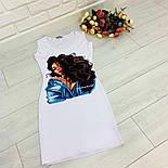 Женский белое платье-майка с рисунком (в расцветках), фото 5