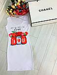 Женский белое платье-майка с рисунком (в расцветках), фото 7