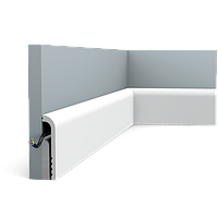 Плинтус напольный Orac Decor Axxent SX185,(12x2.5x200 см),лепной декор из дюрополимера.