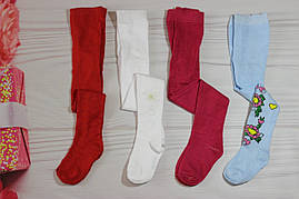 Колготы для девочки Голубые красные малина белые 104-110 рост