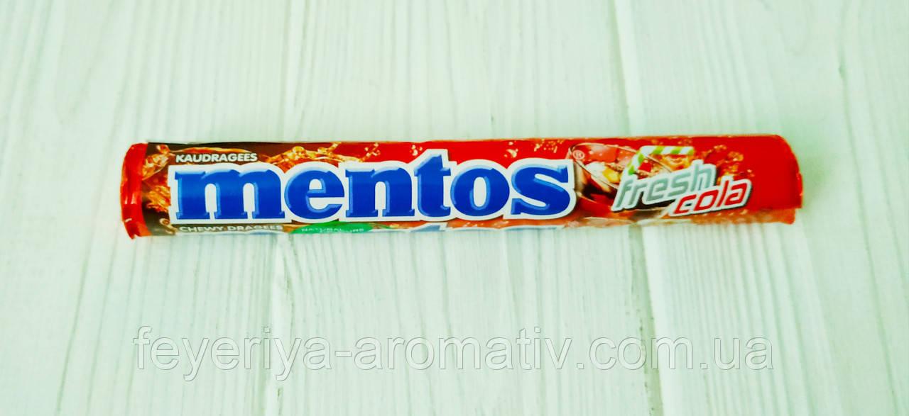 Жевательные конфеты со вкусом колы Mentos Fresh Cola 37,5гр