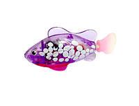 Интерактивная игрушка Robo fish Светящаяся рыбка-робот фиолетовая