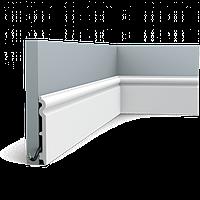 Плинтус напольный Orac Decor Axxent SX138,(13.8x1.5x200 см),лепной декор из дюрополимера.
