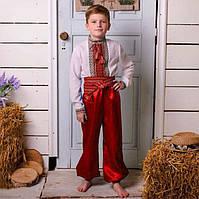 Красные шаровары на мальчика от 60см - до 100см, фото 1