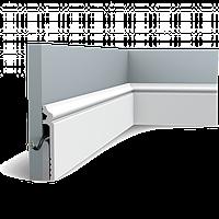 Плинтус напольный Orac Decor Axxent SX186,(13.8x2.2x200 см),лепной декор из дюрополимера.