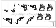 Запасные части Roco 136203  комплект тормозных цилиндров на тележку тепловоза Roco 72785 ЧМЭ3-070 СЖД Н0,1:87