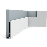 Плинтус напольный Orac Decor Axxent SX168,(15.1x1.4x200 см),лепной декор из дюрополимера.