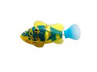 Интерактивная игрушка Robo fish Светящаяся рыбка-робот желто-синяя