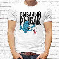 """Мужская футболка с принтом для рыбаков """"Бывалый рыбак"""" Push IT"""