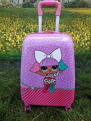 "Детский чемодан на 4 колесах для девочки ""Кукла LOL"" 45*31*21 (1 куколка)"