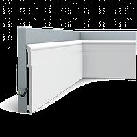 Плинтус напольный Orac Decor Axxent SX156,(20.2x1.6x200 см),лепной декор из дюрополимера.