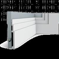 Плинтус напольный Orac Decor Axxent SX181,(20x2.2x200 см),лепной декор из дюрополимера.