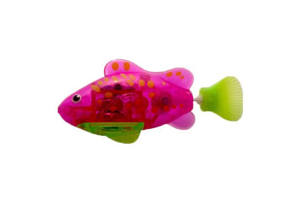 Интерактивная игрушка Robo fish Светящаяся рыбка-робот розово-салатовая