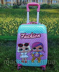 "Детский чемодан на 4 колесах для девочки ""Кукла LOL"" 45*31*21 (2 куколки)"