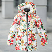 "Зимняя куртка для девочки ""Розы""на меху., фото 1"