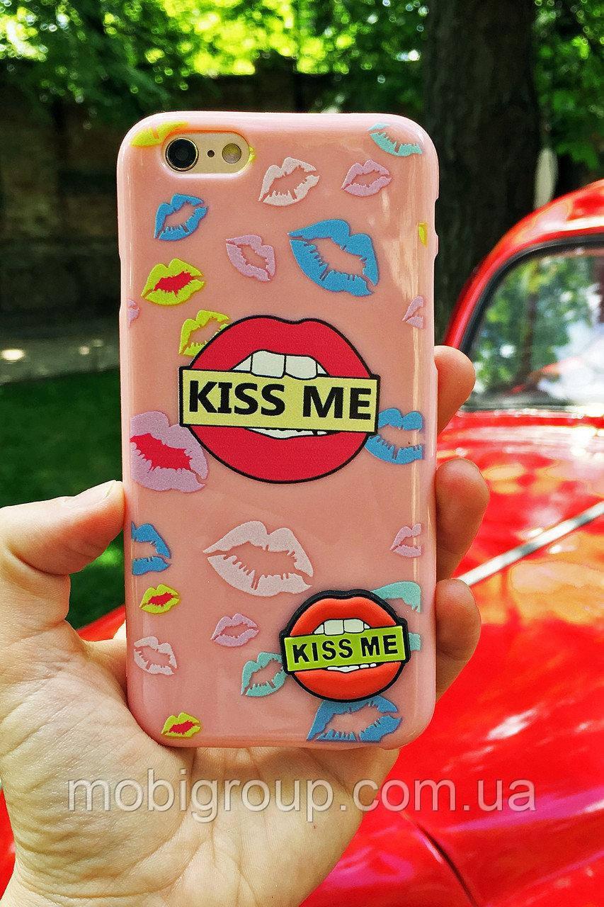 Силиконовый чехол Губы iPhone 6S/6, Kiss me