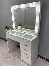 Стол для макияжа с витриной и зеркалом V499