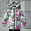 "Зимняя куртка для девочки ""Розы""на меху."