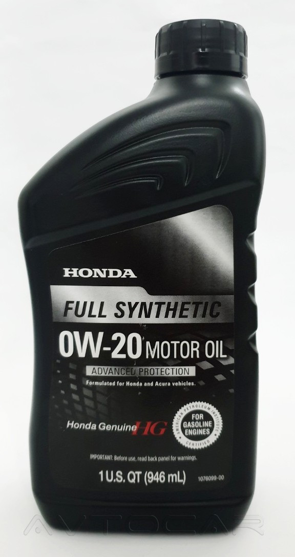 Масло моторное Honda Motor Oil API SN 0W-20 Ultimate