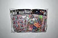 Резиночки для плетения Rainbow Loom 200шт. (разноцветные)