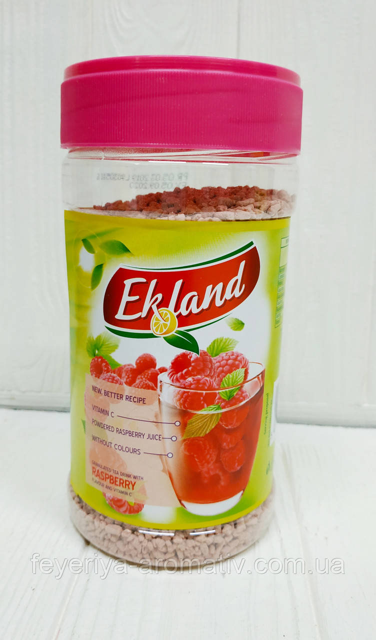 Гранулированный чай с ароматом малины Ekland 350гр. (Польша)