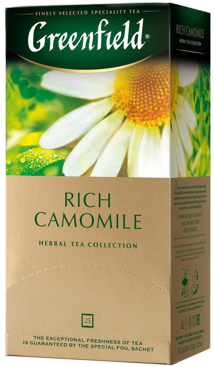 Пакетированный чай Greenfield Rich Camomile 1,5 грамм 25 пакетов (травяной ромашка с корицей)