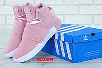 Кроссовки женские Adidas Tubular Invader Strap в стиле Адидас Тубулар Инвайдер розовые