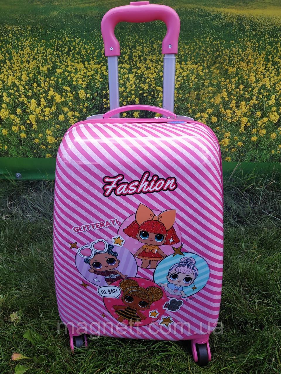 "Дитяча валіза на 4 колесах для дівчинки ""Лялька LOL"" 45*31*21 (4 лялечки)"