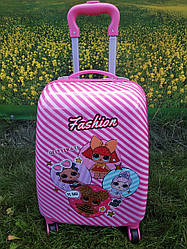 "Детский чемодан на 4 колесах для девочки ""Кукла LOL"" 45*31*21 (4 куколки)"