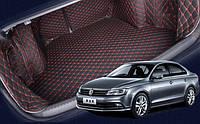 Ковры багажника 3Д из экокожи Volkswagen Jetta 2010-2017 г.в., фото 1