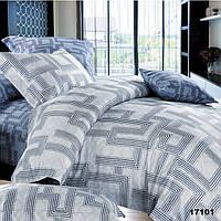 Модное семейное постельное белье с ранфорса Viluta в сером цвете