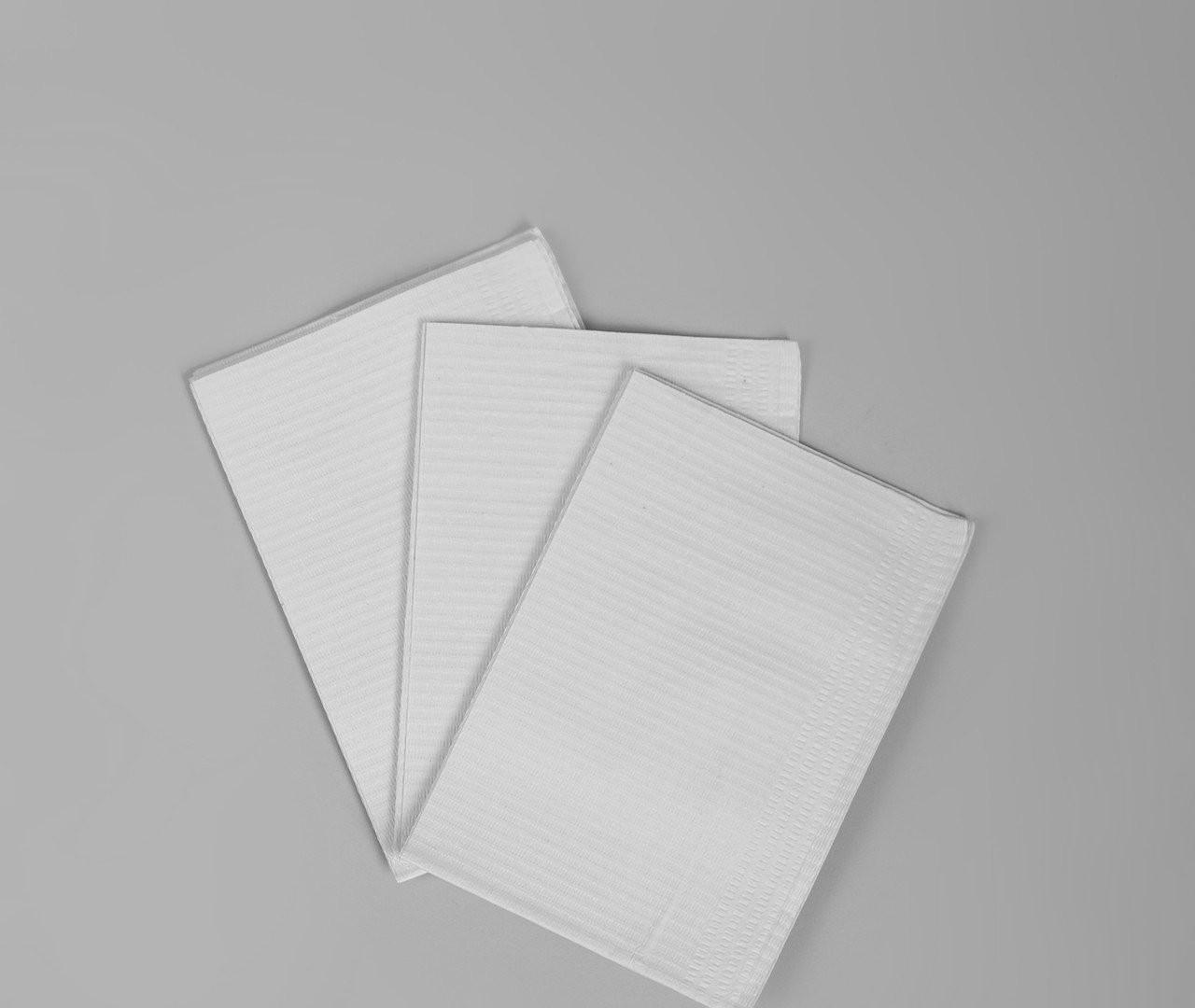 Салфетка нагрудник медицинская, стоматологическая трёхслойная Polix PRO&MED (125шт в упаковке) Белая
