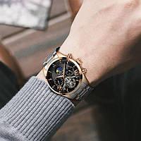 Мужские механические часы с автоподзаводом Megalith Prestige с маятником Турбиллион