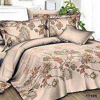 Коричневый семейный комплект постельного белья Viluta с ранфорса