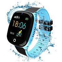 Детские водонепроницаемые смарт-часы с GPS JETIX DF50 Light Edition (Blue)