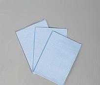 Салфетка нагрудник медицинская, стоматологическая трёхслойная Polix PRO&MED (125шт в упаковке) Голубая