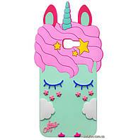 Чехол-накладка TPU 3D Little Unicorn для Samsung Galaxy J4 Plus (2018) SM-J415F Mint