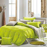 Евро постельное белье в спальню в ярком цвете Viluta с ранфорса